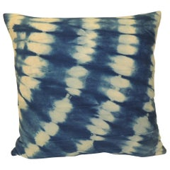 Vintage Indigo and White African Textile Decorative Pillow