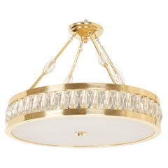 Oval Tambour Ceiling Fixture with Rods