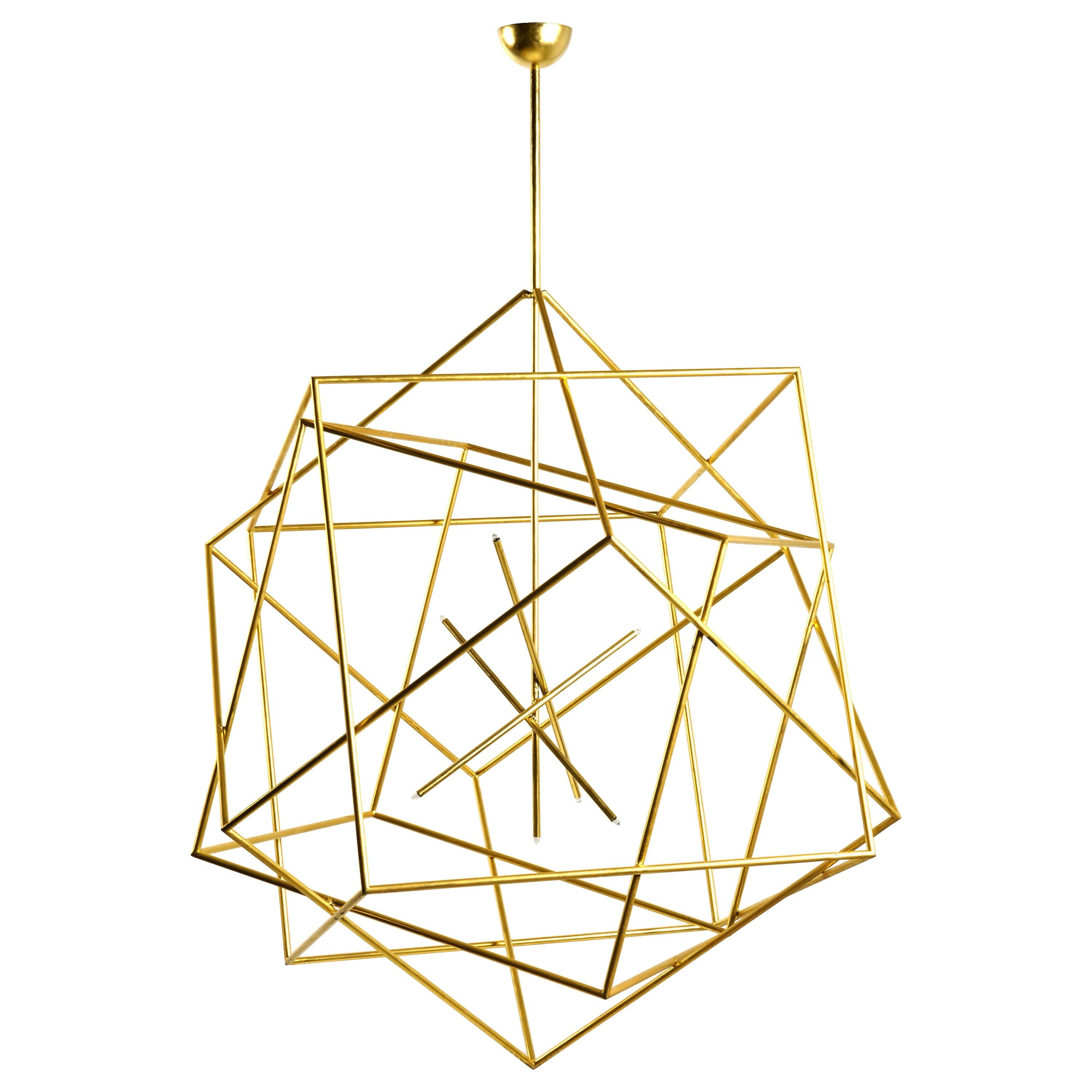 Polyedres Chandelier by Hubert Le Gall