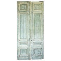 Set of Three 19th Century Large Entry Doors