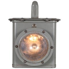 World War Era U.S. Navy Ship Lantern Light, circa 1940s