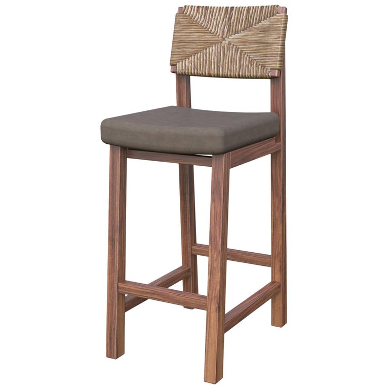 Chapultepec Stool With Tule Back Contemporary Mexican Design For