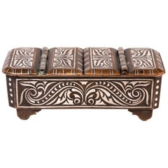 Southern Philippine 'Mindanao' Brass with Silver Inlay Betel Box