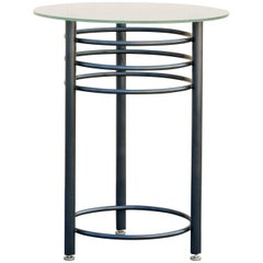 Vintage Contemporary Steel Cocktail or Center Table, Refinished in Metallic Gray