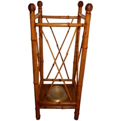 West Indies Antique Bamboo 1920s Umbrella Stand