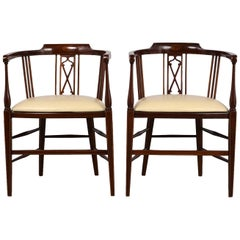 Pair of Antique Regency Style English Armchairs