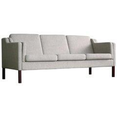 Børge Mogensen Model 2213 Style Sofa in Grey Wool by Stouby Mobler, Denmark