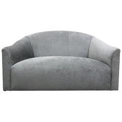 Vintage Oversized Italian Lounge Chair Loveseat Sofa