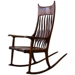 Sculpted Wood Studio Rocking Chair after Sam Maloof