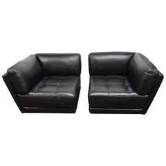 Two Piece-Leather Loveseat, by Chateau D' Ax