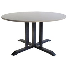 Round Compass Contemporary Dining Table