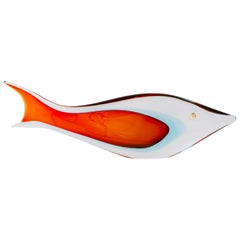"Mid-Century Modern Italian Glass ""Pesce"" Fish Sculpture by, Antonio da Ros"