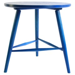 Colt Side Table, Contemporary Side Table in Delft Stain on Ash Wood