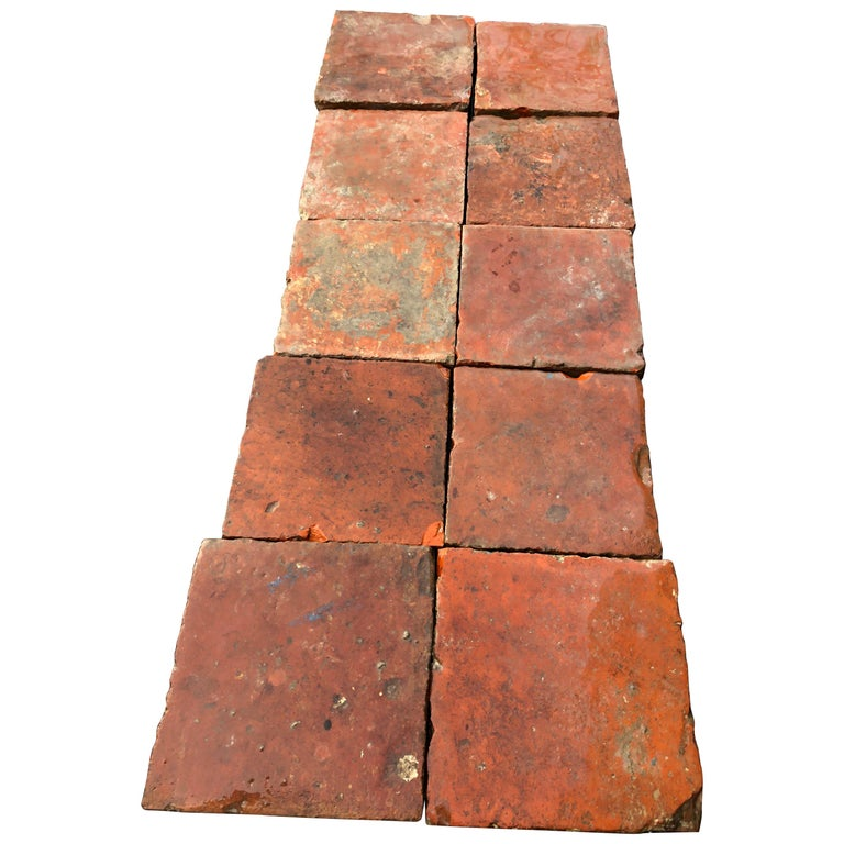 Flooring French Antique Terracotta 18th Century from France For Sale