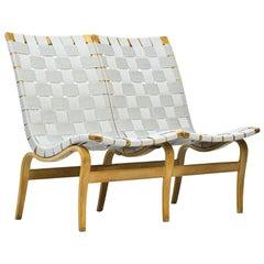 "Scandinavian Modern ""EVA"" Sofa in Birch & Webbing by Bruno Mathsson, Sweden"