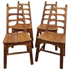1950s Oak Chairs by Webber Furniture in Croydon, London