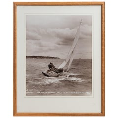 Original Beken Photograph of HRH Duke of Edinburgh Sailing Cowslip