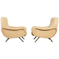 Marco Zanuso Lady Chairs, Arflex, Italy, 1960s 'Complimentary Reupholstery'