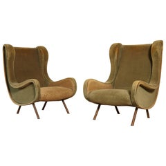 Marco Zanuso Senior Chairs, Arflex, Italy, 1960s 'for Re-Upholstery'