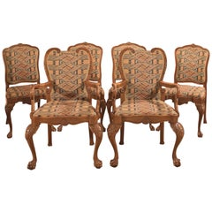 Antique Dining Chairs, French Set of Six, 19th Century