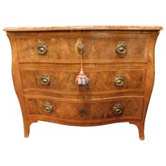 Antique Caisson 'Chest of Drawers' in Briar, Veneered Wood, '700, Italy
