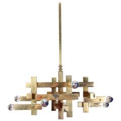Sciolari 20th Century Modern Design Brass Chandelier
