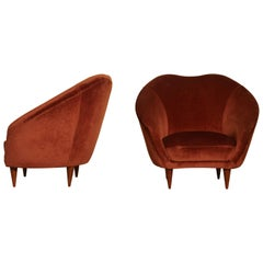 Pair of Federico Munari Lounge Chairs Italy, 1960s