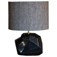 """Monolite"" Flair Edition Polished Black Marquinia Marble Lamp, Italy 2019"