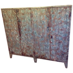 Industrial Style Cupboard with Distressed Paint