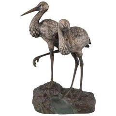 Art Deco Bronze Bird Sculpture by A. Vannier, 1930, France