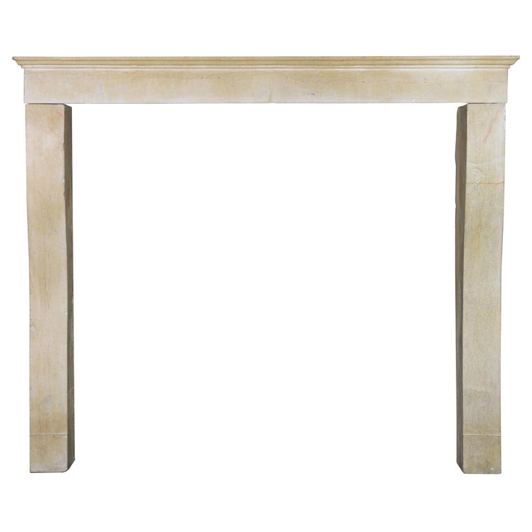 19th Century Fine French Limestone Antique Fireplace Surround For Sale