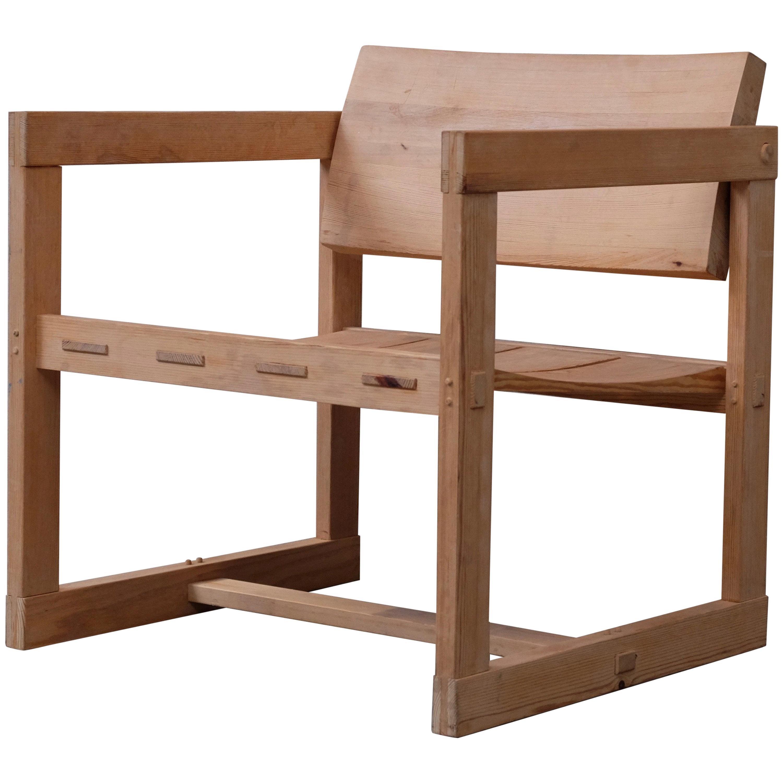 "Edvin Helseth ""Trybo"" Easy Chair by Stange Bruk, Norway, 1960s"