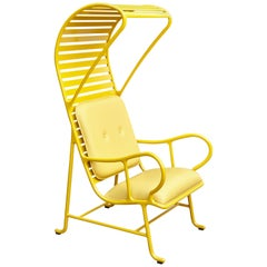 Jaime Hayon Contemporary Yellow Gardenias Indoor Armchair with Pergola