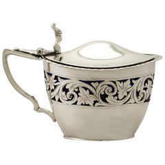 Victorian English Sterling Silver Mustard Pot