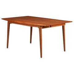 "Vintage Alfred Christensen ""Boomerang"" Extendable Teak Dining Table"