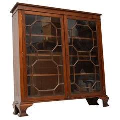 Antique Edwardian Mahogany Two-Door Bookcase