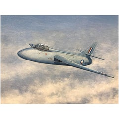 Painting of a RAF Hawker Hunter Jet 'WB188'