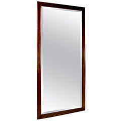 Architectural Scale Oak Frame Bevelled Mirror