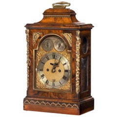 Fine George III Period Mahogany Bracket Clock Signed by Alex Dickie