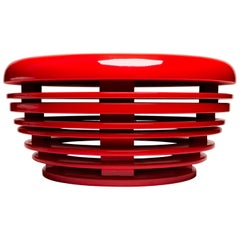 Egg Table, Red Lacquer, Side Table by Reda Amalou Design, 21st Century