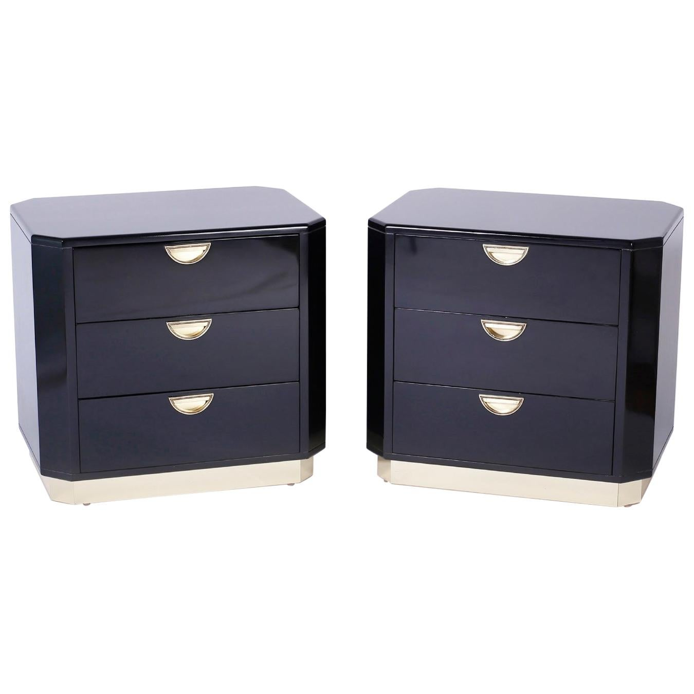 Pair of Mid Century End Tables or Nightstands by John Widdicomb