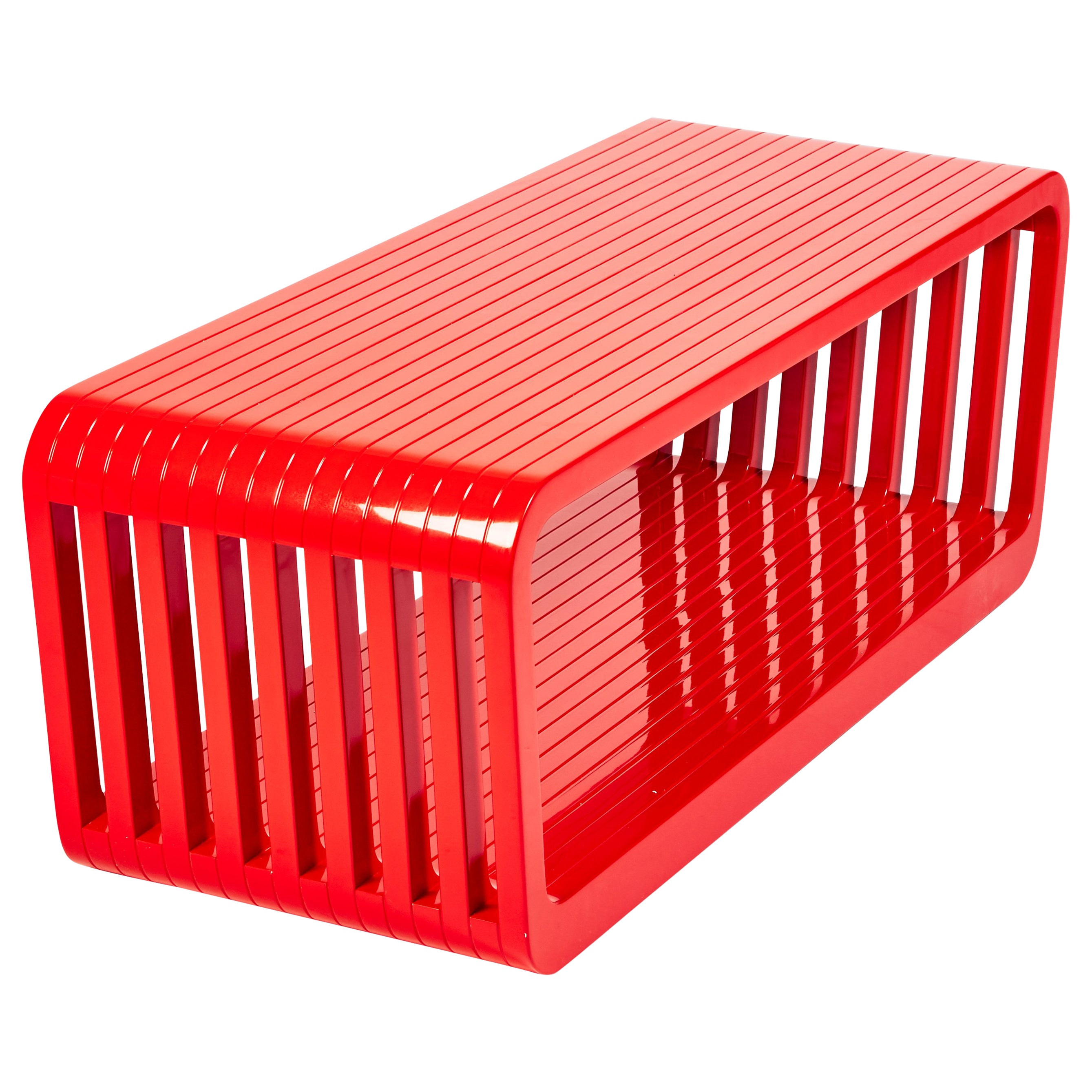 Bench or Coffee Table, LINK by Reda Amalou , 2016 - Red or White Lacquer, Walnut