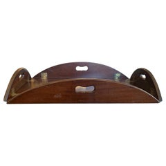 19th Century English Mahogany Folding Butler's Tray with Hinged Sides