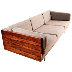 Midcentury American Rosewood Case Sofa by Milo Baughman for Thayer Coggin