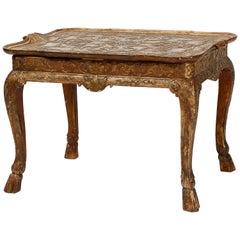 Gilt Gesso Cabriole Leg Low Table