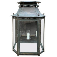 Early 20th Century English Wall Lantern with Old Finish