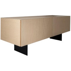 Contemporary Striped Pattern Wood Sideboard by Sebastiano Bottos, Italia