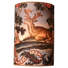Black Forest Wall Light Shade Wallpaper with Hunting Scene Sofina Kitzbuehel