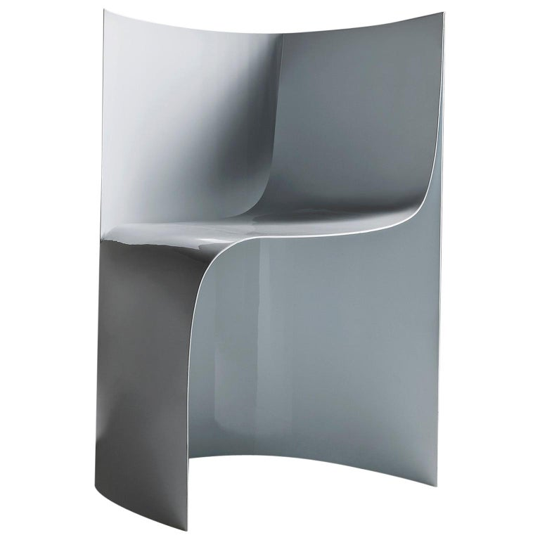Sharp Lacquered Aluminium Armchair by Sebastiano Bottos, Italia For Sale