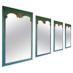Set of Four French Rococo Revival Mirrors